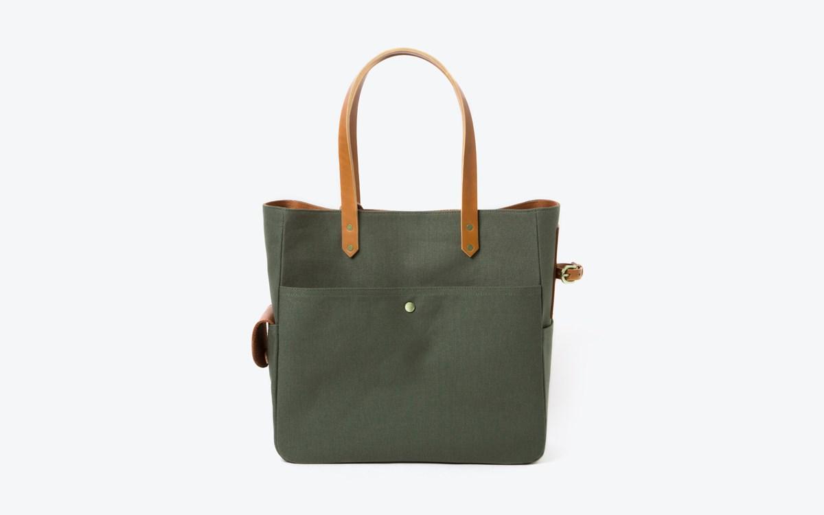 M Tote bag olive_tan 02